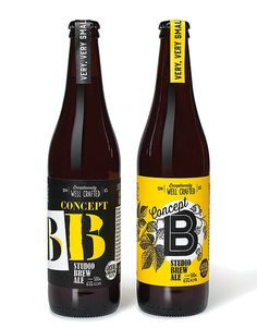 I like how this brand has used contrasting colours and graphic elements on each of their different kinds of beer. The designs are still unified by colour and placement of elements yet each have a distinctive feel in conjunction with the type of beer.