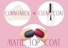 How To Make Your Own Matte Top Coat