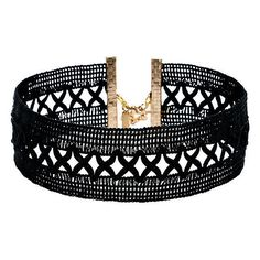 Vanessa Mooney Only Kisses Black Lace Choker Necklace ($28) ❤ liked on Polyvore featuring jewelry, necklaces, choker, accessories, braceletes, black, lace choker, initial jewelry, letter necklace and vanessa mooney jewelry