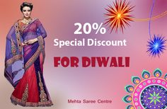 Diwali gift by Mehta Saree Centre Look Beautiful to this festive season.