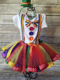 outfits clown Your place to buy and sell all things handmade Girl Clown Costume, Girl Costumes, Costumes For Women, Rainbow Costumes, Candy Costumes, Rainbow Tutu, Rainbow Outfit, Kids Tutu, Tutus For Girls