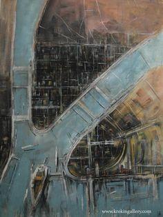 "Konstantin Batynkov ""Cartography"", acryl on vinyl paper, Vinyl Paper, Russian Art, Cartography, Moscow, Planets, City Photo, Maps, Contemporary Art, Art Gallery"