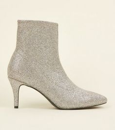 Shop nothing but the latest footwear this season from out New In collection. Be a trend setter and turn heads for all the right reasons. New Look Uk, Socks And Heels, Silver Glitter, Shoe Collection, Kitten Heels, Footwear, Booty, Shopping, Shoes