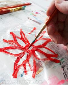 plastic bag printmaking . great tutorial ................. >From: alisaburke.blogspot.com