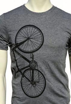 Bicycle T Shirt. Bike. Lightweight men s unisex soft T-shirt. Crew and f3048df79e