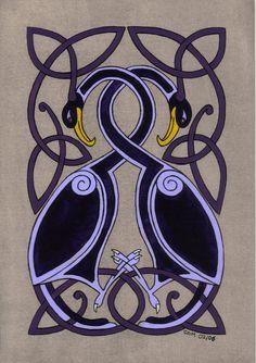 celtic birds by spookyt5.deviantart.com on @deviantART