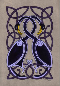 celtic birds by spookyt5.deviantart.com on @deviantART