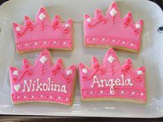 Large Princess Crown Cookies by sugartscookies on Etsy
