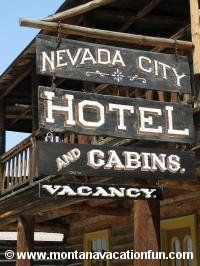 Nevada City, Virginia City.  Ghost towns in Montana.