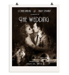 Custom DIY Old Hollywood Wedding Poster by NoblestHart on Etsy