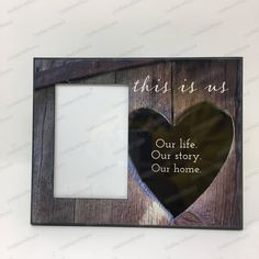 This is us Frame, Our life, Our story, Our home, Wedding gift, Newlywed gift frame, Family picture Frame, Personalized Family Frame by CreativeCraftRooms on Etsy https://www.etsy.com/listing/593907487/this-is-us-frame-our-life-our-story-our