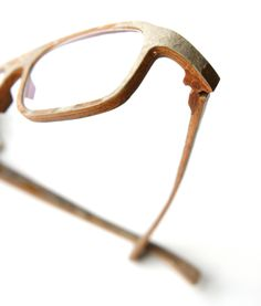 eyeglasses with a thin stone exterior