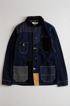 Patchwork Fashion Inspiration Jackets Ideas For 2019 Retro Outfits, Cool Outfits, Denim Fashion, Fashion Outfits, Raw Denim, Character Outfits, Looks Style, Mode Style, Sweater Jacket