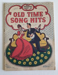 1935 Treasure Chest of Old Time Song Hits Old-Fashioned | Etsy Vintage Sheet Music, Vintage Sheets, Vintage Frames, Vintage Items, Treasure Chest, Vintage Accessories, More Fun, Art Projects, Vintage Outfits