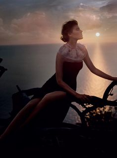 isle of dreams: maryna linchuk by vincent peters for uk harper's bazaar september 2015