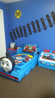 Thomas the train theme// already got a Thomas the train bed & the toy box/art center