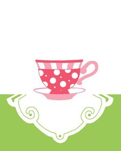 Pink Tea Cup Art Print