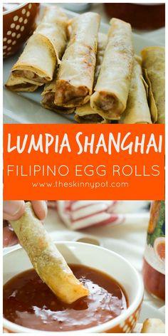 How to Make Lumpia Shanghai or Filipino Egg Rolls plus VIDEO – bambus Lumpia Recipe Filipino, Filipino Egg Rolls, Filipino Recipes, Asian Recipes, Filipino Food, Filipino Dishes, Asian Foods, Chinese Egg Rolls, Pinoy Recipe