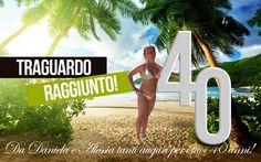 #40 #compleanno #biglietto #mare #viaggio