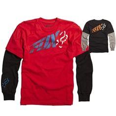 2013 Fox Racing Riptide 2Fer Kids Long Sleeve Casual Motocross Toddlers Shirt