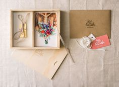 Beautiful photographer packaging from Jac & Heath Photography