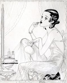 """Nell Brinkley (1886 –1944) - The epitome of flapper style by """"The Queen of Comics"""" Detail of """"Jill"""""""