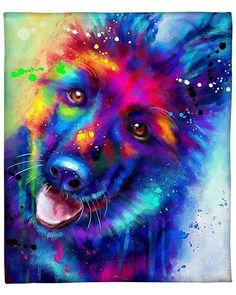 Cute Animal Drawings, Cute Animal Pictures, Dog Pictures, Dog Wallpaper, Animal Wallpaper, Cute Funny Animals, Cute Baby Animals, Rainbow Dog, Wolf Spirit Animal