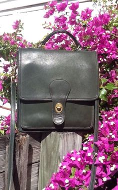 Vintage Coach Willis Station Convertible Bag In Dark Green Leather VGC in Clothing, Shoes & Accessories, Women's Handbags & Bags, Handbags & Purses | eBay