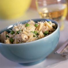 Orzo with Chicken and Asiago This easy chicken dinner is truly a one ...