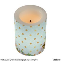 vintage,chic,victorian,collage,girly,modern,cute,m flameless candle