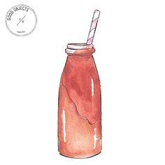 Good objects - Chocolate milkshake #goodobjects #watercolor #illustration