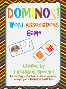 DOMINOES Word Associations FREEBIE! - Pinned by @PediaStaff – Please Visit ht.ly/63sNt for all our pediatric therapy pins