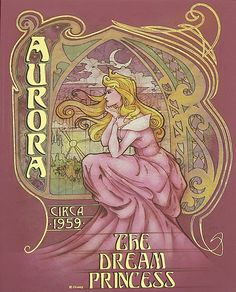 "Art Nouveau | Disney Cast: Art Nouveau + Disney - Parte 3: Fanarts de ""The Art Of ..."