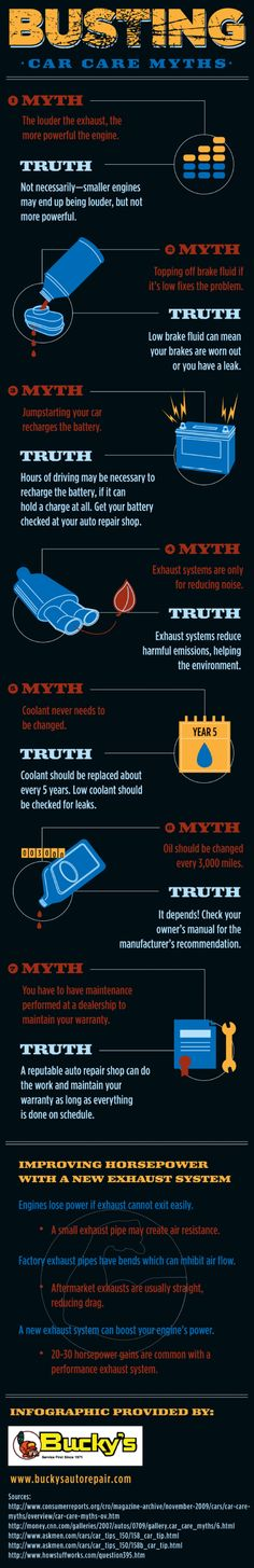 Busting Car Care Myths #infographic
