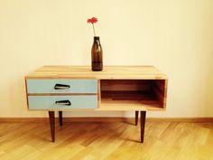 Sideboard aus Massivholz Buche mit 2 Schubladen  von raavens auf DaWanda.com
