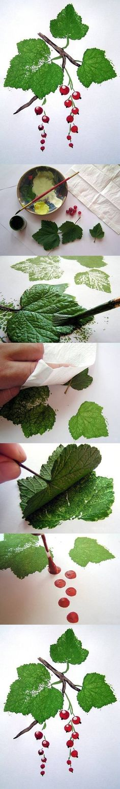 DIY Painting Arts Classes ..... ver referencia http://www.icreativeideas.com/creative-leaf-painting-art/