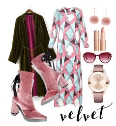 """""""velvet"""" by lausgdr-1 on Polyvore featuring Robert Clergerie, Steven Alan and Movado"""