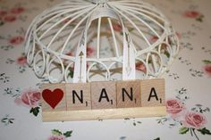 Nana Shabby Chic Ornament