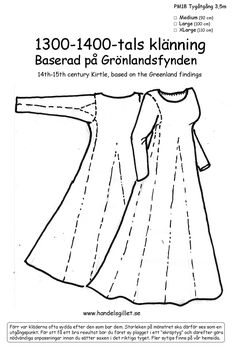 Celtic Clothing, Medieval Clothing, Historical Clothing, Clothing Patterns, Sewing Patterns, Sewing Ideas, Sewing Projects, Medieval Dress Pattern, Viking Wedding