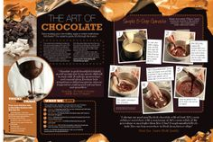 Great British Food Feature - Chocolate tips by Vicky Taylor, via Behance