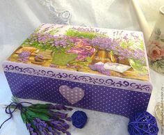 """Купить Шкатулка """"Очарование лаванды"""" - фиолетовый, сиреневый, лаванда, лавандовый цвет, шкатулка, шкатулка для украшений"""