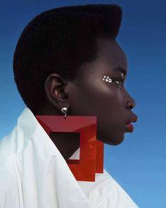 "pocmodels: ""Nyadhuor Deng by Sarah Krick for Grazia Bulgaria Magazine - November 2019 "" High Fashion Photography, Editorial Photography, Amazing Photography, Grazia Magazine, 20th Century Fashion, Afro Punk, Black Is Beautiful, Chic, Black Hair"