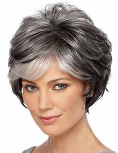 Brand: Estetica Designs Pure Stretch Cap WigsType of Hair: SyntheticHead Size: Average Approx. Hair Length: Bang - Side - Crown - Nape - Weight: ozColor(s) Shown on… Short Hair Styles Easy, Short Hair Cuts For Women, Medium Hair Styles, Curly Hair Styles, Hair For Women Over 50, Easy Hairstyles For Medium Hair, Short Hairstyles For Women, Wig Hairstyles, Female Hairstyles