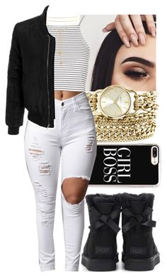 """""""Untitled #536"""" by foreverkaylah ❤ liked on Polyvore featuring Anne Klein, Casetify, Topshop, UGG and LE3NO"""