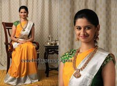 Traditional Sari by Bhargavi Kunam | Saree Blouse Patterns