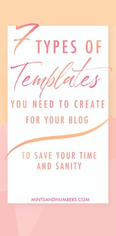 Do you spend a ton of time creating graphics for your blog post? Here are 7 types of templates you can create to quickly create your graphics and get your blog post ready to be published. #blogdesigntips #blogtips #productivity