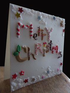 Polymer Clay Christmas Card