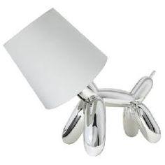 Dog Balloon Lamp - Silver (includes CFL bulb)