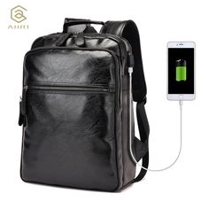 b4b10adf03 School Travel Bag Leather Men's Fashion Shoulder Bags Men Backpack. Zaini  Per RagazziZaini In PelleSotto L'armaturaHerschelZaino