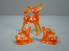 Vintage Plastic Orange Deer. My sister was obsessed with Bambi. ha ha thanks Chloe, I loved these.